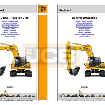 JCB JZ235 JZ255 TIER III AUTO Service Repair Manual