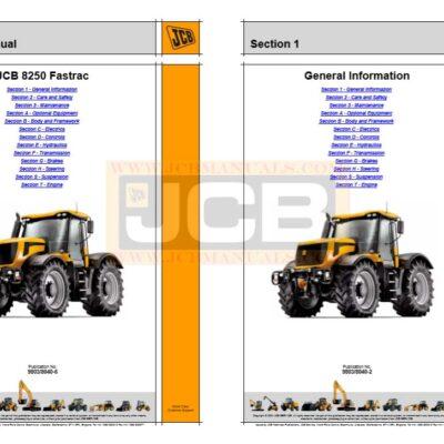 JCB Fastrac 8250  Service Repair Manual