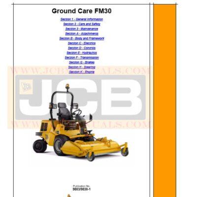 JCB FM30 Ground Care Service Repair Manual