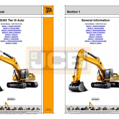 JCB JS360 Excavator Service Repair Manual