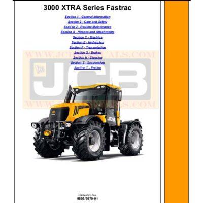 JCB 3000 XTRA Series Fastrac Service Repair Manual