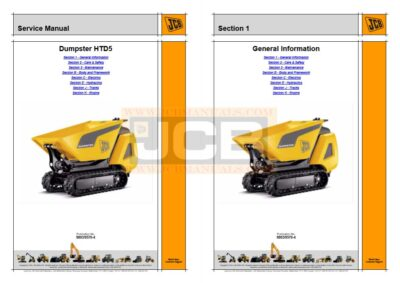JCB Dumpster HTD5 Service Manual