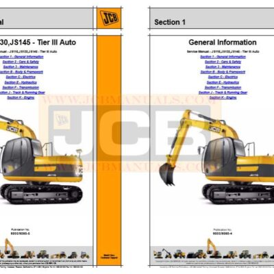 JCB Excavator JS115, JS130, JS145 Service Repair Manual