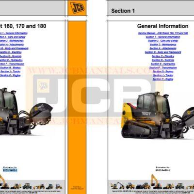 JCB Skid Steer Loader 160, 160 HF, 170, 170 HF, 180 HF, 108T Series II Service Manual
