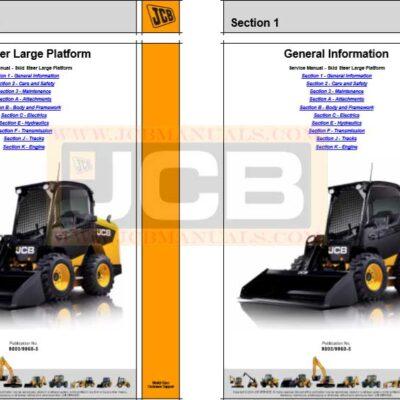JCB Skid Steer Large Platform Service Repair Manual