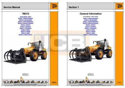 JCB TM310 Agricultural Loader Service Manual
