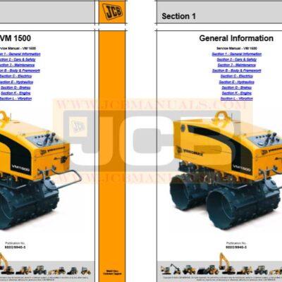 JCB Vibromax VM 1500M, VM 1500F Service Repair Manual