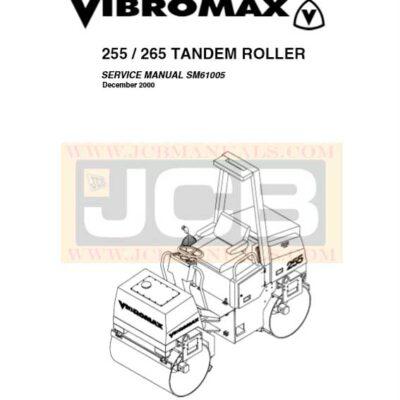 JCB Vibromax 255 265 TANDEM ROLLE Service Repair Manual