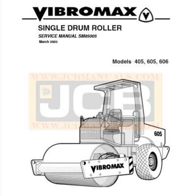 JCB Vibromax 405, 605, 606 SINGLE DRUM ROLLER Service Repair Manual