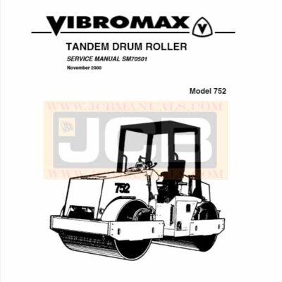 JCB Vibromax 752 TANDEM DRUM ROLLER Service Repair Manual