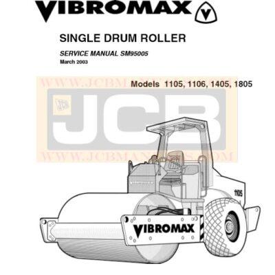 JCB Vibromax 1105, 1106, 1405, 1805 SINGLE DRUM ROLLER Service Repair Manual