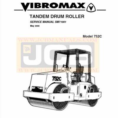 JCB Vibromax 752C TANDEM DRUM ROLLER Service Repair Manual