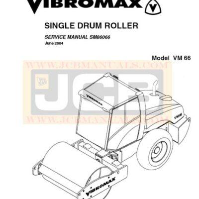 JCB Vibromax VM66 SINGLE DRUM ROLLER Service Repair Manual