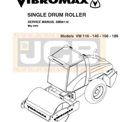 JCB Vibromax VM 116, 146, 166, 186 SINGLE DRUM ROLLER Service Repair Manual