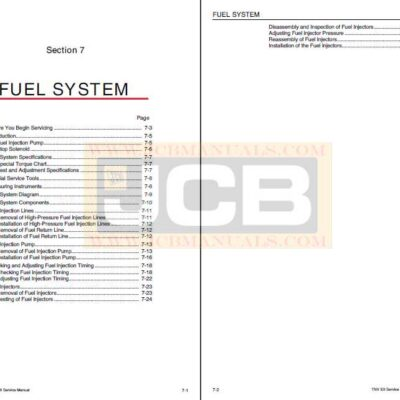 JCB Engines Yanmar 2TNV70 3TNV70 3TNV76 Service Repair Manual