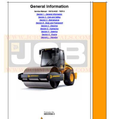 JCB VIBROMAX VM 46,75,115,132,146,166,200 RANGE TIER II Service Manual
