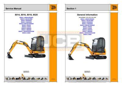 JCB Mini Excavator 8014