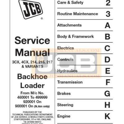 JCB 3CX, 4CX, 214, 215, 217 & VARIANTS Service Repair Manual