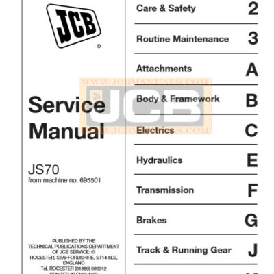 JCB JS70 Excavator Service Repair Manual