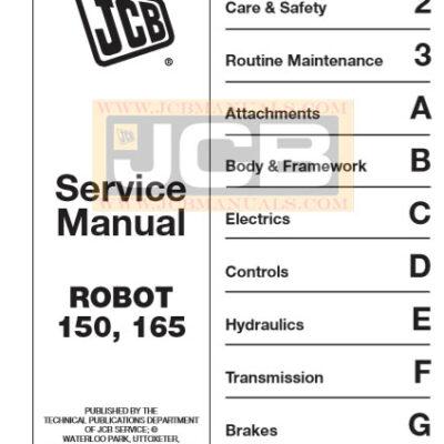 JCB ROBOT 150, 165 Service Repair Manual