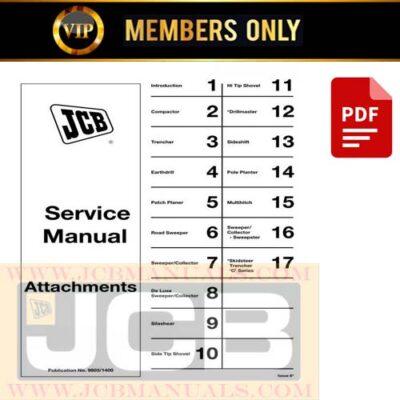 JCB General Attachments Service Repair Manual