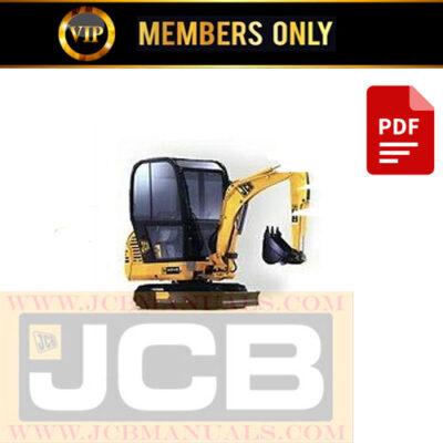 JCB 801.4 801.5 801.6 Mini Excavators Service Repair Manual