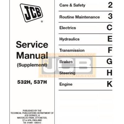 JCB 532H, 537H Supplement Service Repair Manual
