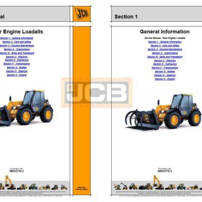 JCB 526, 526S, 528-70, 528S Loadall Service Repair Manual