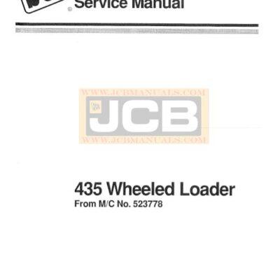 JCB 435 Wheel Loader Service Repair Manual