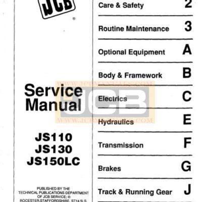 JCB JZ70 Tracked Excavator Workshop Repair Manual