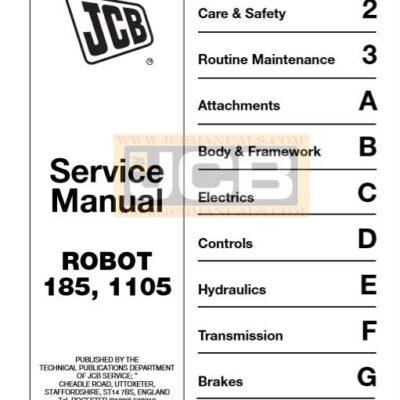JCB ROBOT 185, 1105 Service Repair Manual