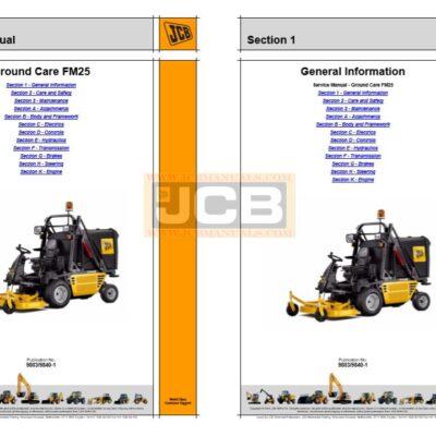 JCB Ground Care FM25 Service Repair Manual