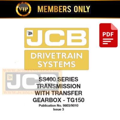 JCB Drivetrain System SS400 SERIES Service Repair Manual