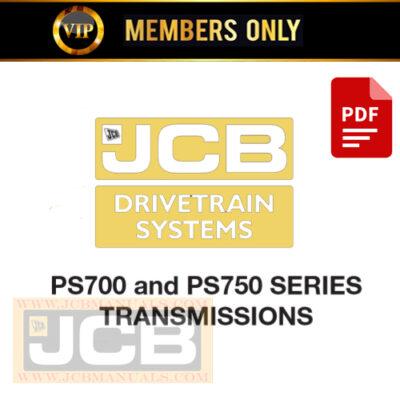JCB Drivetrain System PS700 and PS750 SERIES  Service Repair Manual