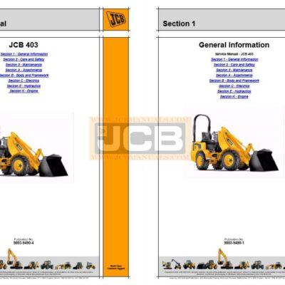 JCB 403 Loader Service Repair Manual