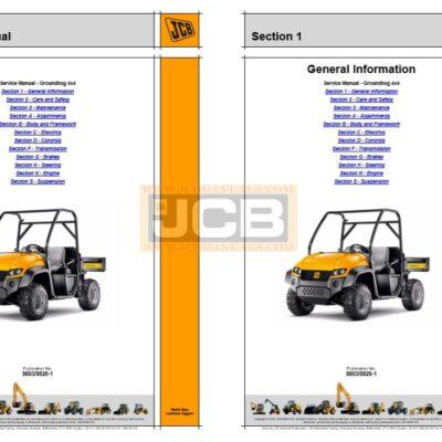 JCB Groundhog 4×4 Service Repair Manual