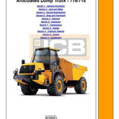 JCB Dump Truck 714, 718 Service Repair Manual