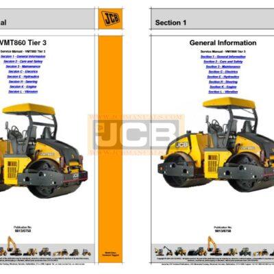 JCB VMT860 Tier 3 Roller Service Repair Manual