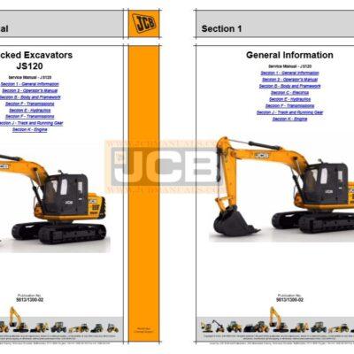 JCB JS120 Excavator Service Repair Manual