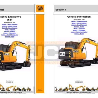 JCB JS81 Excavator Service Repair Manual