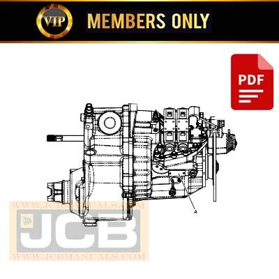 JCB HS750 Transmission Service Repair Manual