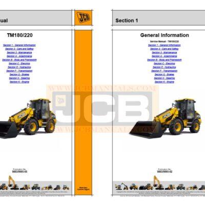 JCB TM180 TM220 Wheeled Loader Service Repair Manual