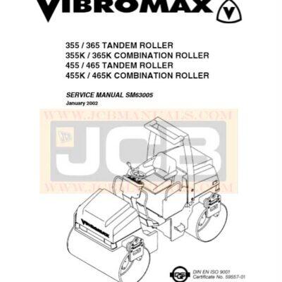 JCB Vibromax 355 365 355K 365K 455 465 455K 465K Service Repair Manual