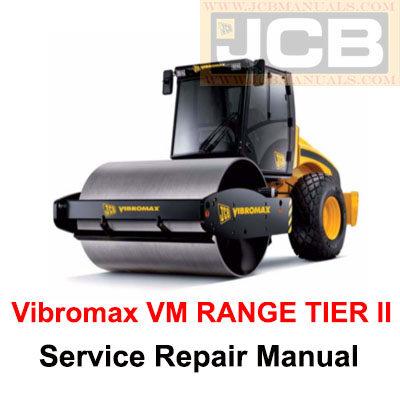 JCB Vibromax VM RANGE TIER II Service Repair Manual