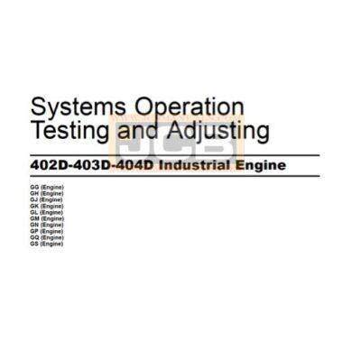 Perkins 402D-403D-404D Industrial Engine Testing and Adjusting Manual