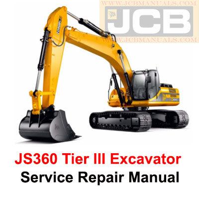 JCB JS360 Tier III Excavator Service Repair Manual