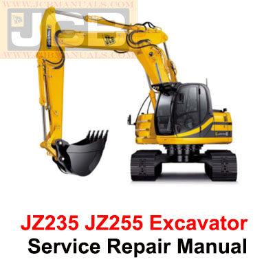 JCB JZ235 JZ255 Excavator TIER III AUTO Service Repair Manual