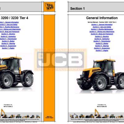 JCB Fastrac 3200, 3230 Tier 4 Service Repair Manual
