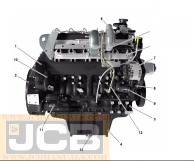 JCB T2 and T3 Electric Engine 6 Cylinder Service Repair Manual