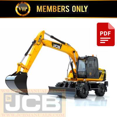 JCB JS Auto Range – Wheeled Excavators Service Repair Manual